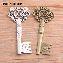 Key Charms Pendants Decoration Steampunk Handmade Vintage Jewelry Making-Findings 2pcs
