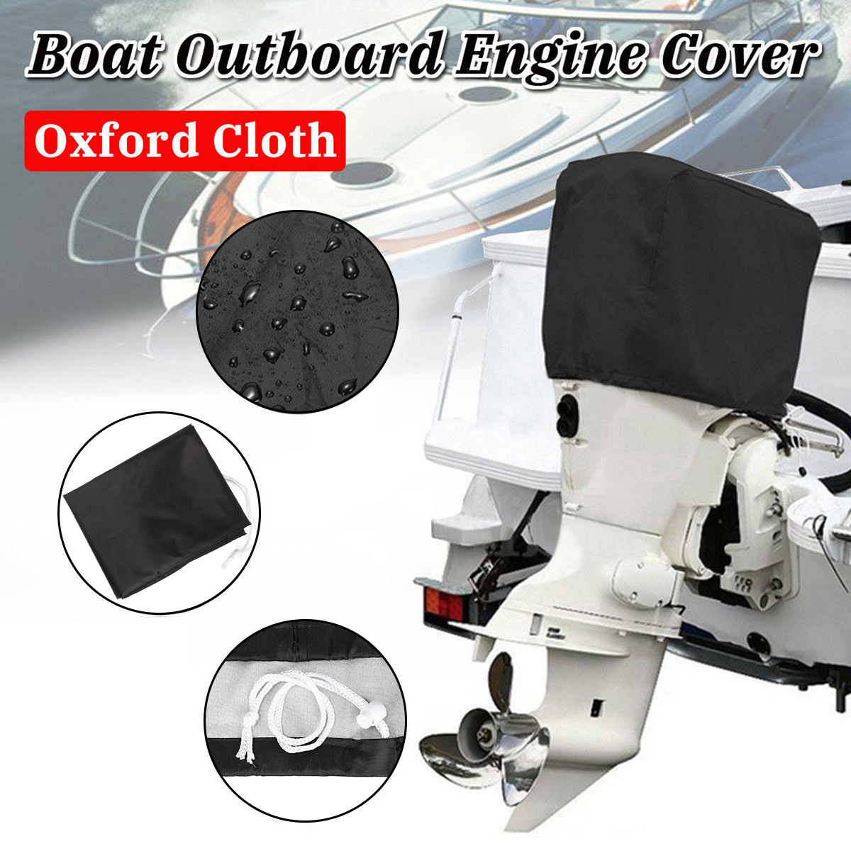 Waterproof Vented Outboard Motor Boat Engine Hood Cover 2-5 HP Size 1 Camo