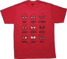 Spiderman The Many Faces of Peter Parker Graphic T-Shirt Clothing Tops Hipster Fashion top tee