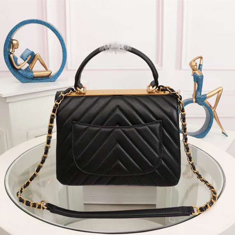 Luxury Genuine Leather Handbag Women Messenger Bags Famous Brands Women Crossbody Bag Fashion Chain Shoulder Bags