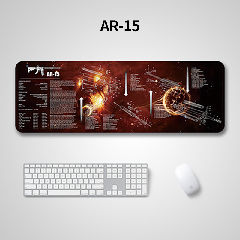 Hunting Airsoft Gun Cleaning Accessories Mats 1911 M4 Glock 17 AR15 AK47 Rifle Rubber Mouse Pad With Parts Drawing Description