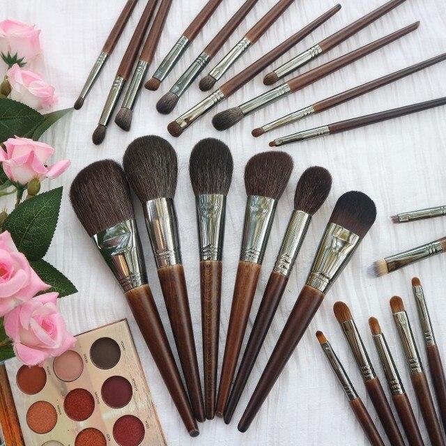 OVW Natural Goat Hair Makeup Brushes Set Professional Kit brocha maquillaje pedzle do makijazu blending smudging brush shader 3