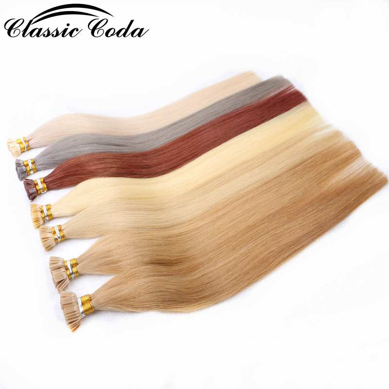 """Classic Coda 50g 20"""" 22 Cuticle Aligned Italian Keratin Bond Human Remy Hair Pre Bonded Flat Tip Hair Extensions 1g/strand Excellent Quality"""