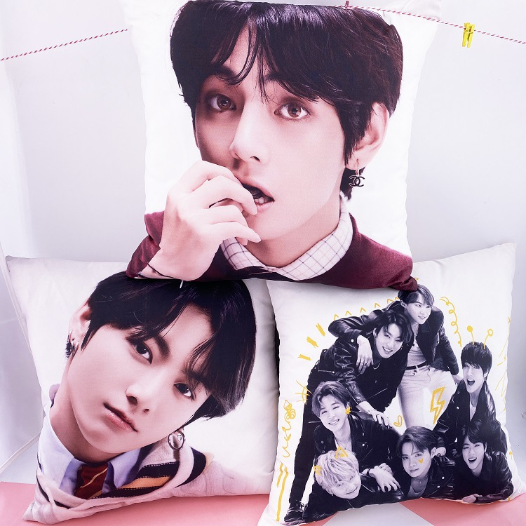 Kpop JUNGKOOK SUGA JIN RM JHOPE V JIMIN Love Yourself PERSONA Plush Pillow Cushion Toy Doll Gift