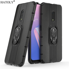 купить For OPPO Realme X Case For OPPO Realme X Protective Case Finger Ring Silicone PC Armor Shell Hard Back Phone Case For Realme X дешево
