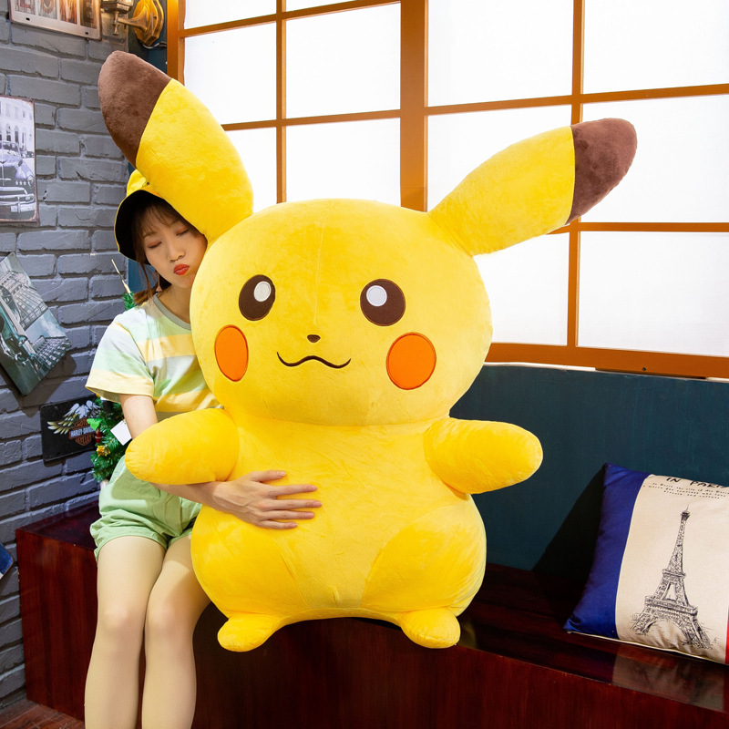 35-65cm High Quality Kawaii Pikachu Plush Toy Cute Plush Toy Cartoon Pikachu Plush Doll Pillow Baby Toy Children Gift