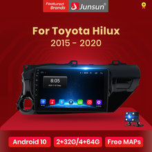 Junsun V1 pro 2G + 128G Android 10 pour Toyota Hilux ramasser AN120 2015 - 2020 autoradio multimédia lecteur vidéo GPS 2 din dvd