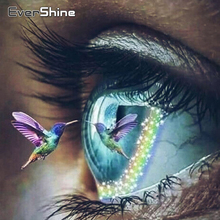 EverShine Diamond Painting Eye Cross Stitch Bead Embroidery 5D Full Square Diamond Art Kits Handwork Wall Art Home Decoration