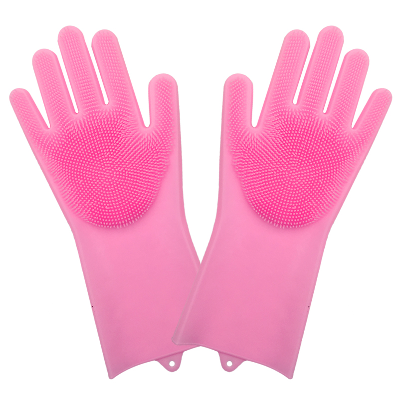 dish washing cleaning gloves with cleaning brush for cleaning dishes kitchen and housekeeping