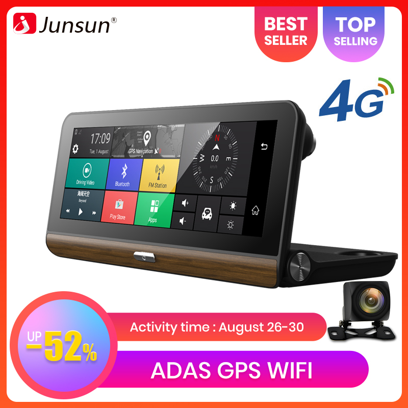 Junsun Car DVR Camera Cam-Recorder Gps-Navigator Video-Dash ADAS Android Morror Registrar