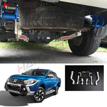 цена HANSSENTUNE 4x4 Steel Pickup Rear Stabilizer Anti-Sway Bar Balance Arm white For Triton L200 MY MQ 2015+ онлайн в 2017 году