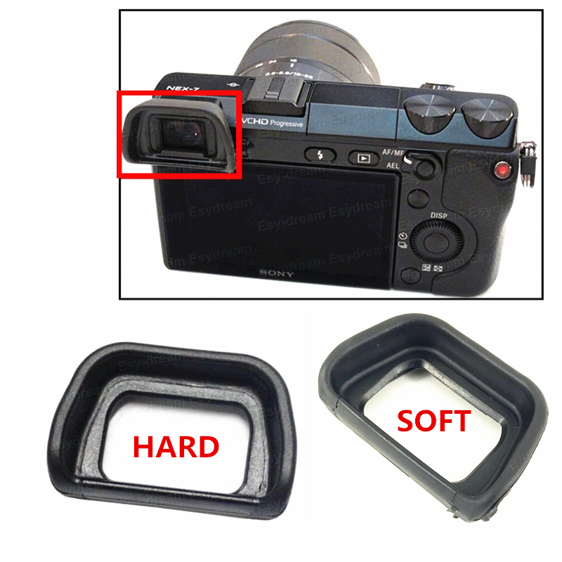 10pcs Hard or Soft <font><b>Eyecup</b></font> for <font><b>Sony</b></font> <font><b>A6000</b></font> A6100 A6300 NEX6 NEX7 FDA-EV1S replace EP10 image