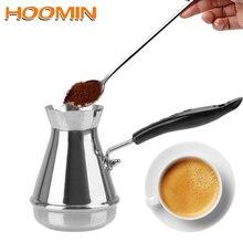 HOOMIN Stainless Steel European Long Handle Moka Pot Butter Melting Pot Coffee Utensils Turkish Coffee Pot Kitchen Tools