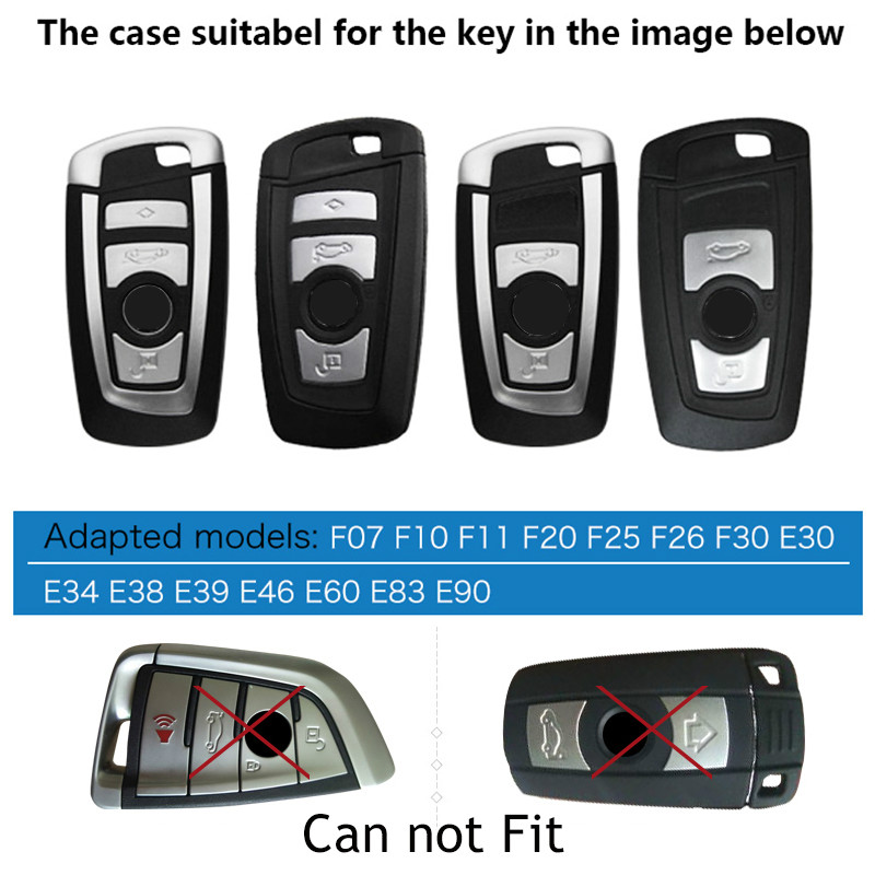 cheapest Fits Perfect 3 4 Buttons Car key shell wallet bag keyfob For BMW X3 X4 X6 118i 730 F15 F16 G30 G11 F48 F39 528li 530  X1 X2 X5