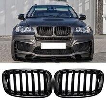 Автомобильный глянцевый черный передний бампер впускная решетка для почек для BMW E70 E71 X5 X6 2007-2013
