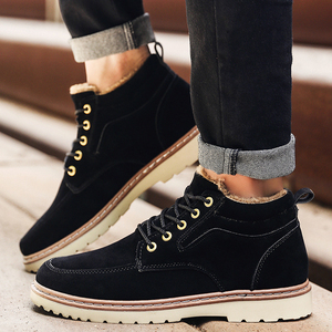 Image 2 - Men Shoes Winter Boots Men Nubuck Leather Waterproof Add Cotton Keep Warm Timber Land Shoes Thick Bottom Non slip Chelsea Boots
