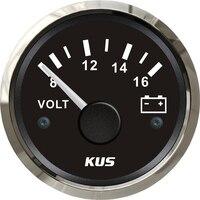 1pc de alta qualidade à prova dwaterproof água ponteiro volt medidores de tensão medidores de tensão 12v / 8-16v voltmetros apto para barco automóvel