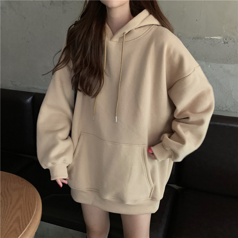 Plus Size 3XL Hooded Velvet Womens Sweatshirt Winter Long Sleeve Thicken Female Hoody 2020 Warm Korean Casual Lady Pullover Top