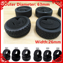 2PCS Kyosho Natural Rubber Tire Tyre with sponge Insert For Rc Hobby Car Himoto