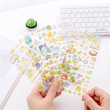 20packs/lot Cute Cartoon Whale Corner Stickers Scrapbooking DIY Diary Album Bullet Journal Stickers For Decorative Room