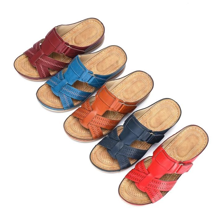 Litthing Dropship Women s Summer Open Toe Comfy Sandals Super Soft Premium Orthopedic Low Heels Walking