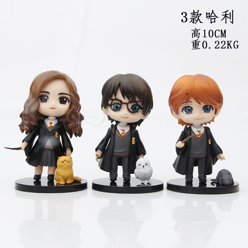 3pcs/set Q Posket Harried Model Anime Potters Action Figure Toys PVC Collectible Doll Hermione Ron Hedwig Movie Kids Cute Gifts 2