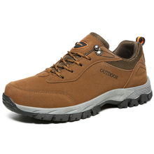 Big Size 39-49 Outdoor Shoes Waterproof Hiking Shoes Men Non