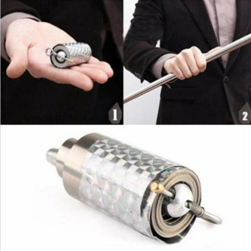 Portable Martial Arts Metal Magic Pocket Bo Staff 110cm New Pocket Magic Tri/_sh
