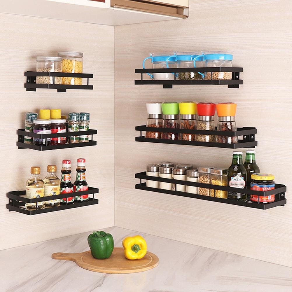 Armario de cocina de almacenamiento Organizadores de ba/ño Estante de especias de bamb/ú de 4 niveles M/&W Organizador especias expandible Estantes para especias