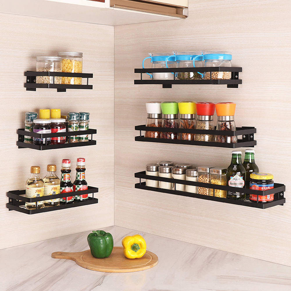 Spices Rack Seasoning Rack Home Closet Organizer Storage Shelf For Spice Jar Rack Cabinet Shelves Holder Kitchen Accessories