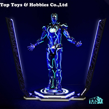 In stock Toy-Box 1/6 Iron Man Legacy Platform Stand Model LED Light for 12 Figure Action iron man mk magnetic floating ver with led light iron man action figure collection toy retail box