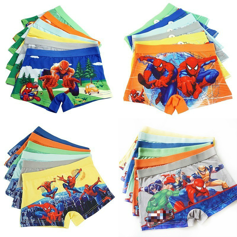 4pcs/lot Boys Panties Spiderman Boxers Underpants Hero Kids Clothes Cotton Panties Boys Clothing Panty Briefs Infant Teenagers