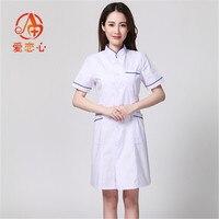 Long Sleeve Women/ White Medical Coat Nurse Services Uniform Medical Scrub Clothes White Lab Coat Hospital Doctor Clothes A&X