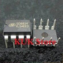Real 100% Original NEW SD6834 DIP8 100PCS/LOT opa627bp dip8 new