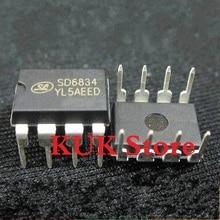 Real 100% Original NEW SD6834 DIP8 20PCS/LOT 20pcs lot cm6800tx ^