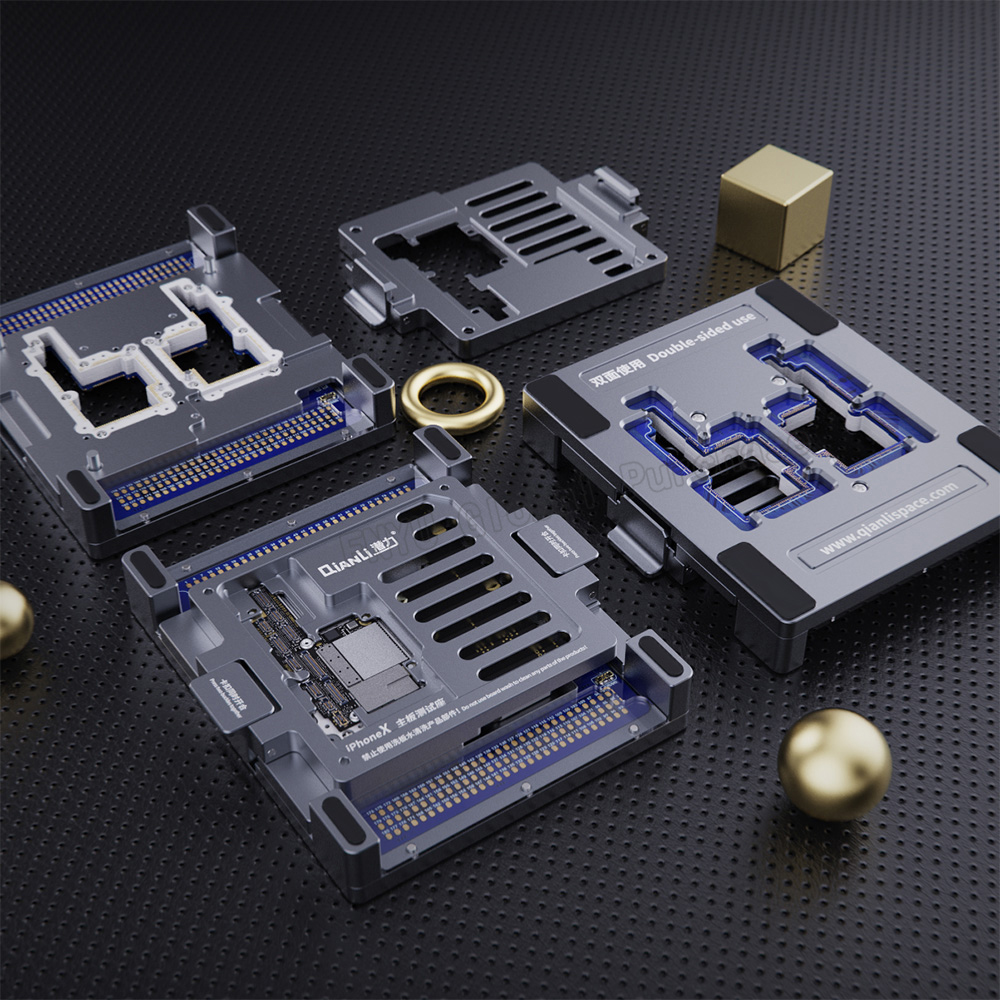 Купить с кэшбэком QIANLI motherboard layered double-sided test stand iPhone X Apple mobile phone motherboard repair test fixture For iPhone X