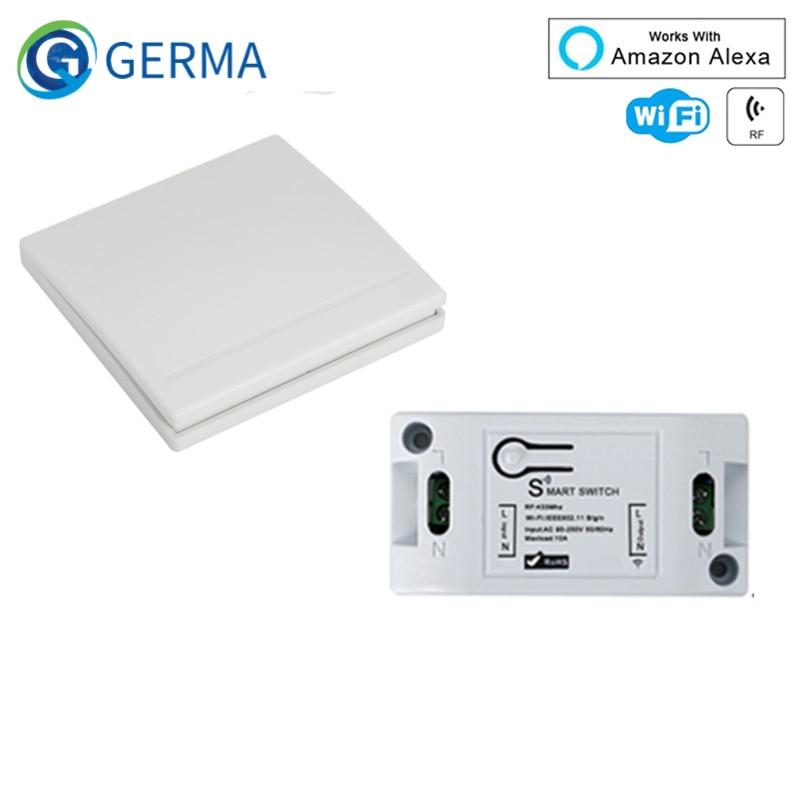 GERMA RF Wifi sans fil 433MHz relais 1 CH 220V récepteur maison intelligente commutateur Module 86 panneau mural commutateur de télécommande 10A 2200W | AliExpress