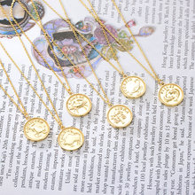 Женское ожерелье из серебра 925 пробы с 12 знаками Зодиака