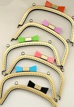 18 Cm antyczny brąz monety torebka metalowa ramki 6 kolor cukierki torba na głowę pocałunek zapięcie torba Diy akcesoria torebka uchwyt torby pasek rama tanie tanio Maxis Opia metal purse handle Frame