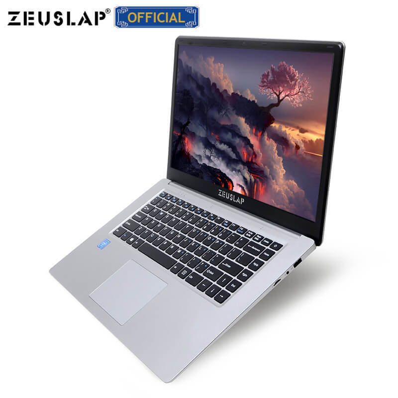 ZEUSLAP 15.6inch Intel Quad Core CPU 4GB RAM+64GB EMMC Windows10 Dual Band Wifi 1920*1080P Netbook Laptop Notebook Computer