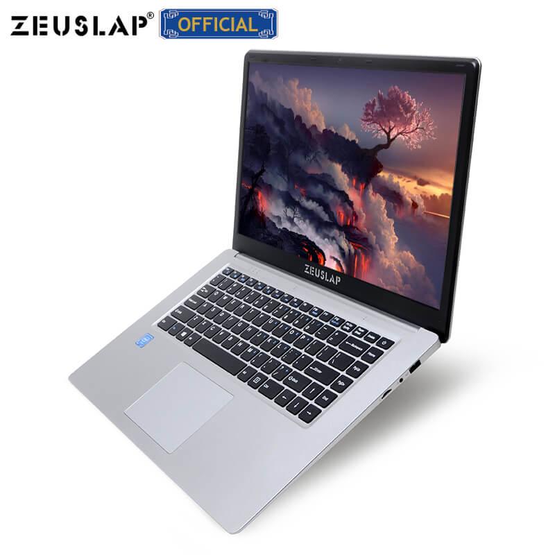 ZEUSLAP 15.6inch Intel Quad Core CPU 4GB RAM+64GB eMMC Windows10 Dual Band Wifi 1920*1080P Netbook Laptop Notebook Computer