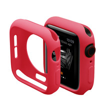 Cover For Apple Watch case 44mm 40mm iWatch case 42mm 38mm Silicone Bumper Protector Apple watch series SE 3 4 5 6 Accessories