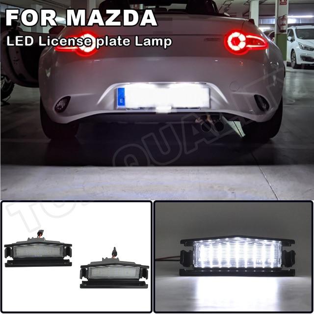 Voor Mazda Mx 5 Nd (Miata) 2016  Mazda 2 2016  High Power Led Auto Achter Kentekenverlichting Nummerplaat Lamp