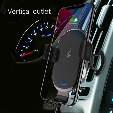 2 In 1 Mobile Phone Stand Car Holder Smartphone Wireless  Fast Charging Scrubs Touch Sensing Bracket Mount Car Accessories Islamabad