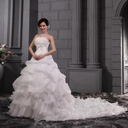 Gryffon Vestido De Noiva Elegant Strapless Sweep Train Ball Gown Princess Classic Wedding Dress Plus Size Wedding Dress 2019