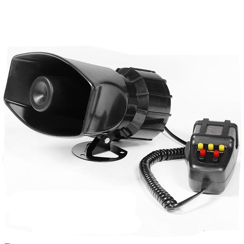 DC 12V Wire 100 Watt Alarm Siren 7 Tone Outdoor 120Db Sounder Super Car Alarm Horn Security Alarm Siren For Whistle Fire Securit