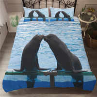 Bed Coverlet Bedding Set Sea Lion 3d Printed Comforter Home Textiles Soft King Size Bed Clothes with Pillowcases