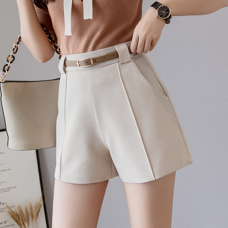 Summer 2019 Women Solid Shorts Loose Casual Shorts High Waist Black Wide Leg OL Shorts Work Wear Clothes