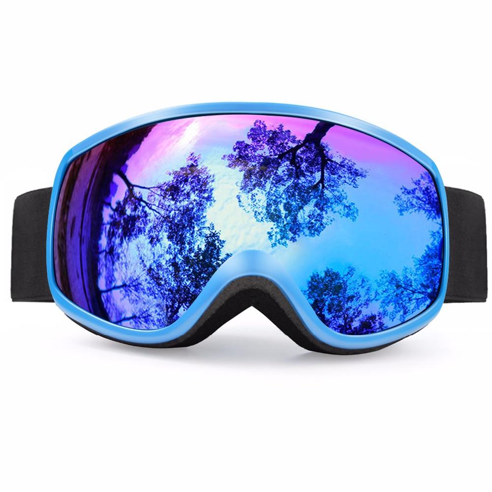 Winter Ski Goggles Kids Professional UV400 Anti-fog Snowboard Goggles 5-14Y Boys Girls Skiing Eyewear Outdoor Mask Glasses D35