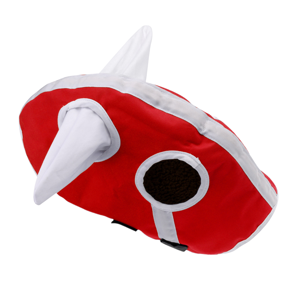 Red Winter Warm Horse Full Face Mask Hood With Ears Prevents Flies Insects